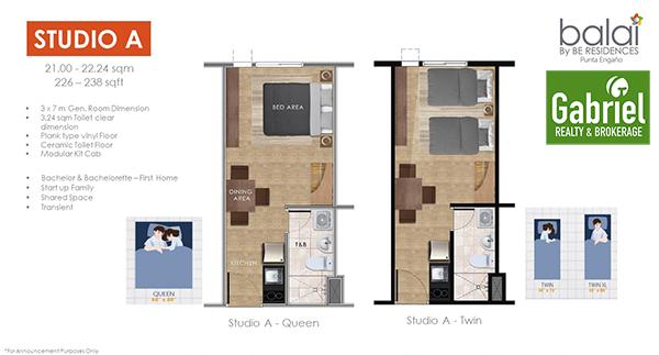 balai residences studio floor plan