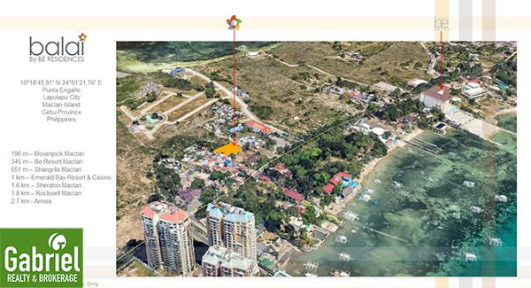 vicinity map of balai residences in lapu lapu