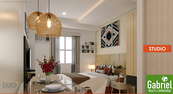 studio floor lay out of balai by be residences