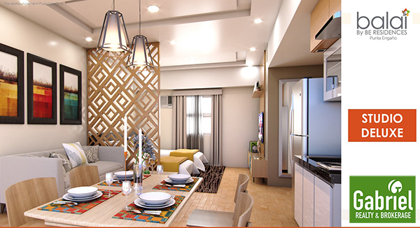 studio de luxe floor lay out - balai by be residences