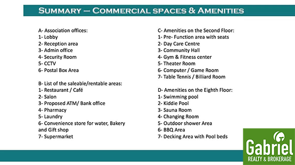 amenities in le mende residences