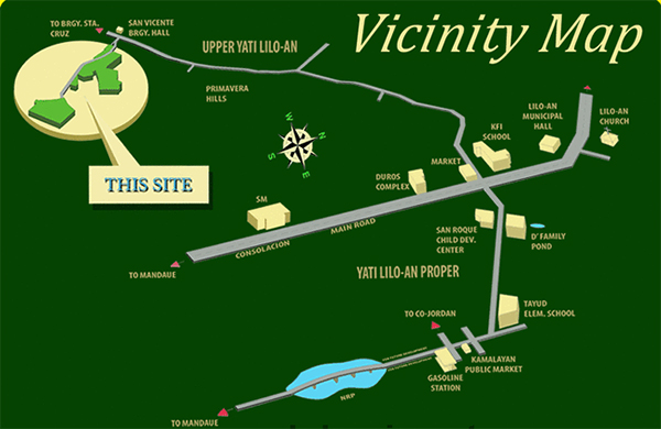 vicinity map of woodland park residences