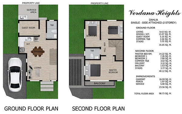 dahlia model single attached house in verdana heights