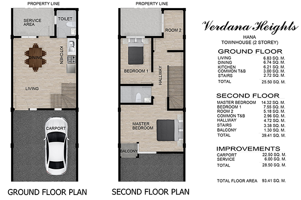 townhouse floor plan in south verdana