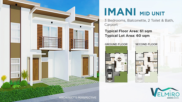 townhouse middle unit in velmiro greens bohol
