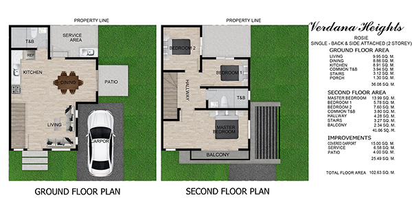 rosie model single attached floor plan