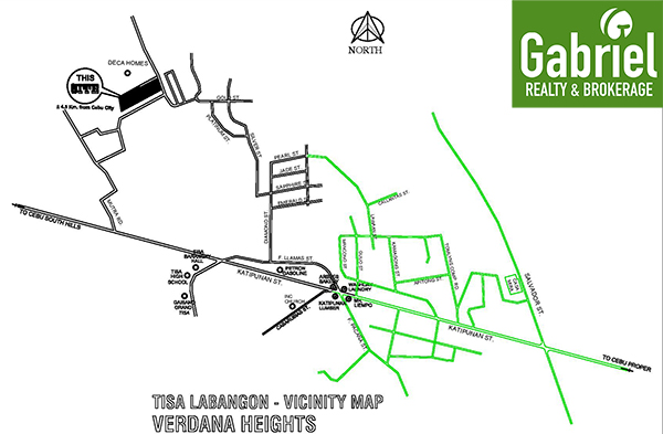 vicinity map of verdana heights subdivision