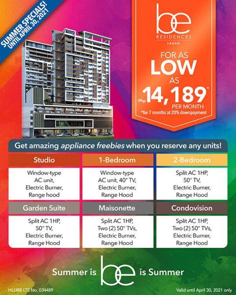 be residences lahug promo