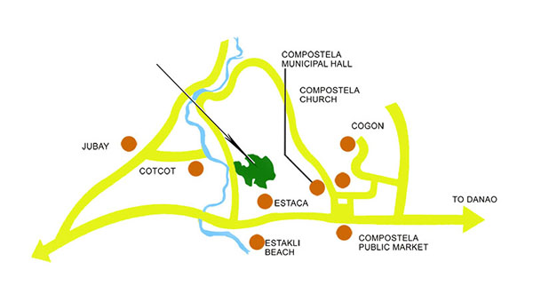 vicinity map of summerhills compostela