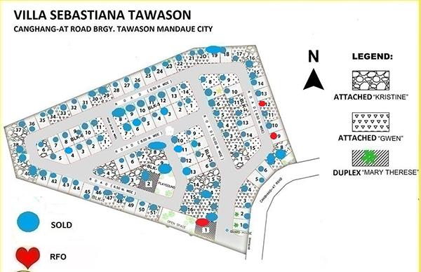 site development plan of villa sebastiana tawason