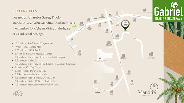 vicinity map of mandtra residences cebu