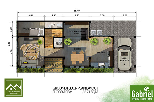 floor plan in mactan country residences