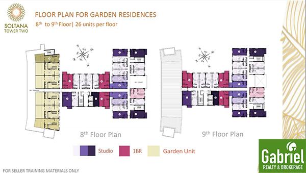 floor plan for garden residences, soltana tower 2