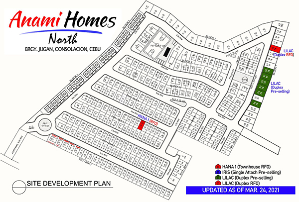 anami homes north subdivision map