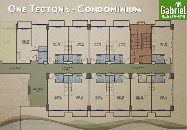 one tectona condominium floor plan