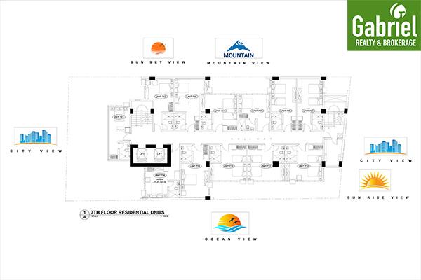 building floor plan of cityscape uptown condominium
