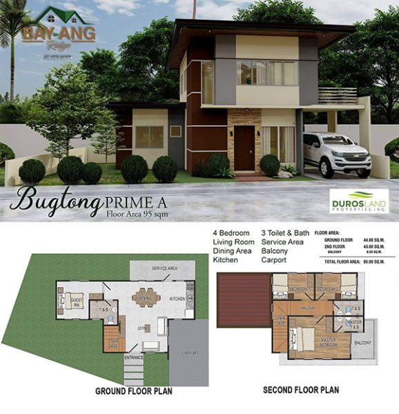 bugtong prime A floor plan in Bay-Ang Ridge Prime Liloan