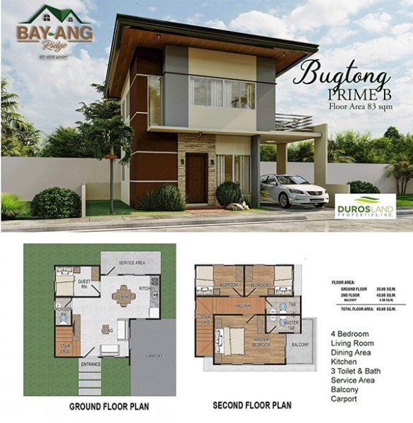 Bugtong Prime B floor Plan in Bay-ang Ridge Liloan