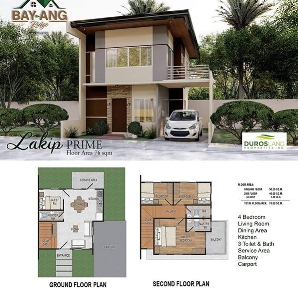 Lakip prime floor plan in Bay-Ang Ridge liloan