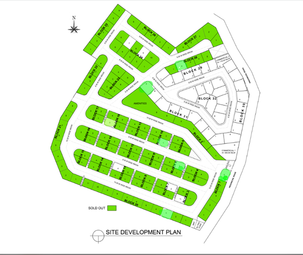 site development plan of bay-ang ridge prime liloan