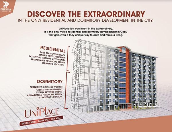 Uniplace Cebu, condominium for sale in SWU