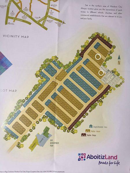 subdivision map in almiya residences