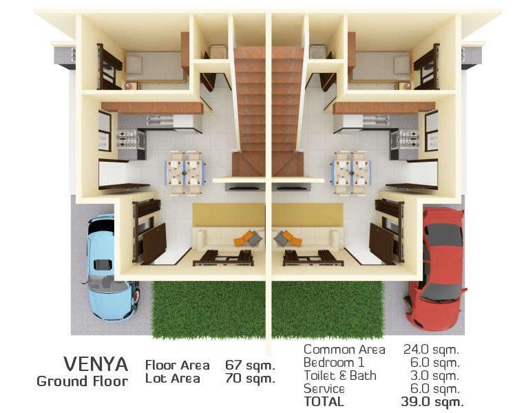 venya model house floor plan