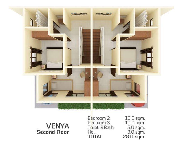 venya floor plan, almiya mandaue