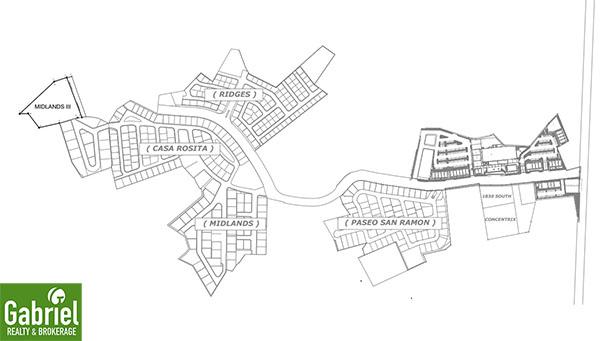 vicinity map of the midlands at casa rosita