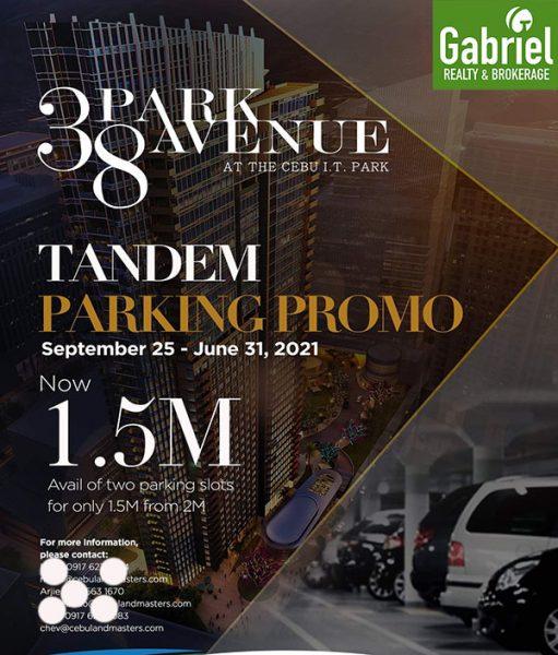 parking for sale in cebu it park, 38 park avenue