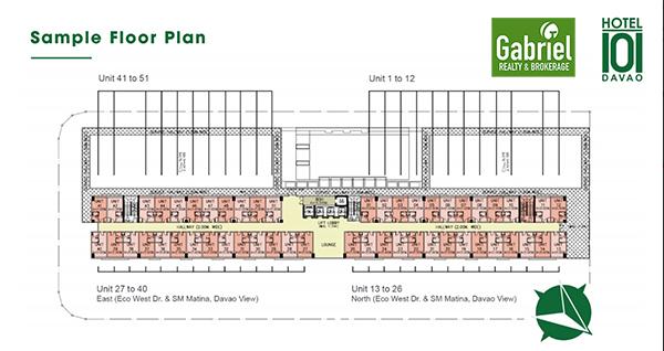 building floor plan of hotel 101