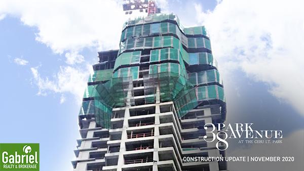 construction update of 38 park avenue cebu it park