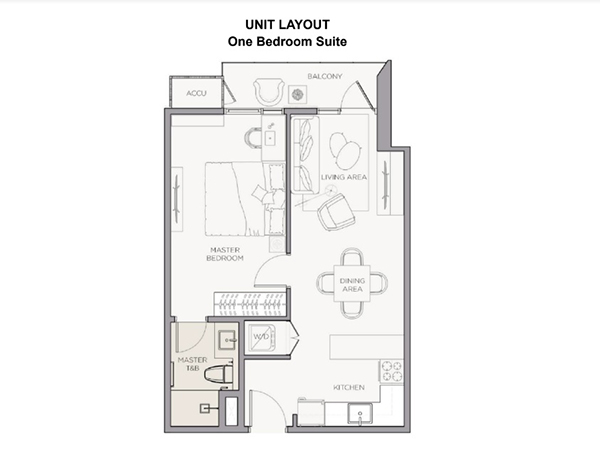 1 bedroom w/ balcony floor plan, condominium for sale in cebu business park