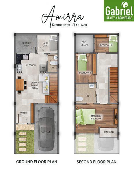 floor plan in amirra residences tabunok talisay