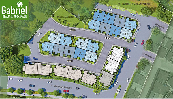 site development plan of ridges at casa rosita in paseo arcenas banawa