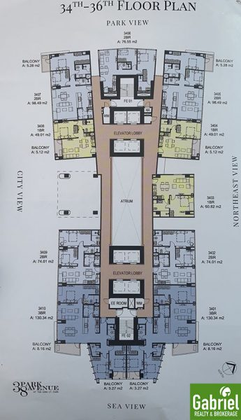 building floor plan of 38 park avenue