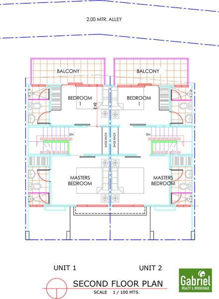 2nd floor plan, amirra residences busay