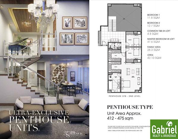 penthouse floor plan, 38 park avenue