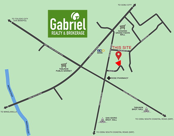 vicinity map of amirra residences tabunok