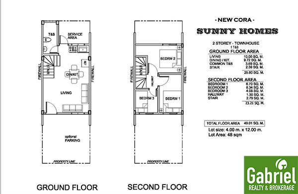floor plan of sunny homes subdivision