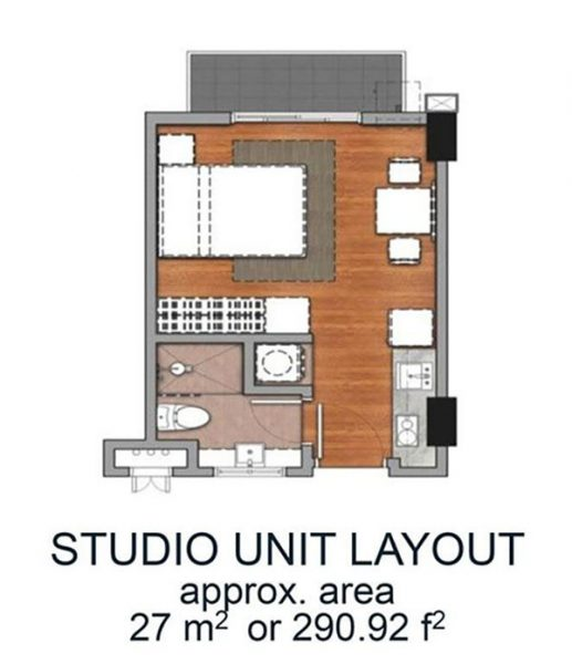 studio floor lay out, amani grand resort residences
