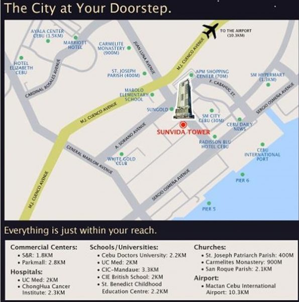 sunvida tower vicinity map