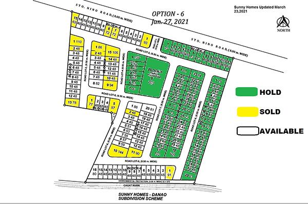 sunny homes danao availability