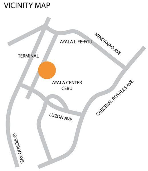 vicinity map of fgu center cebu