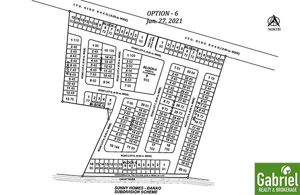 subdivision map of sunny homes danao