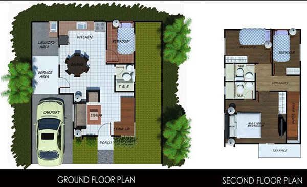 floor plan of the single detached house for sale in north belleza