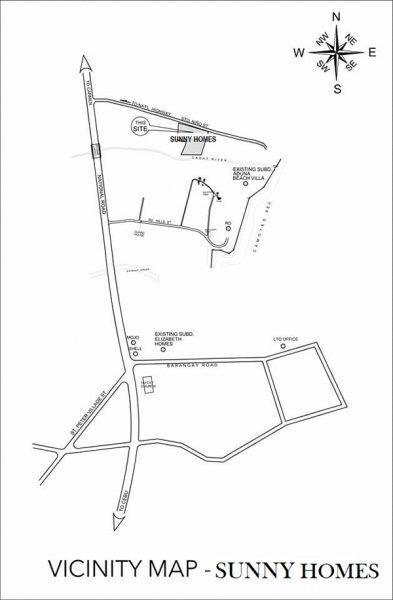 vicinity map of sunny homes danao
