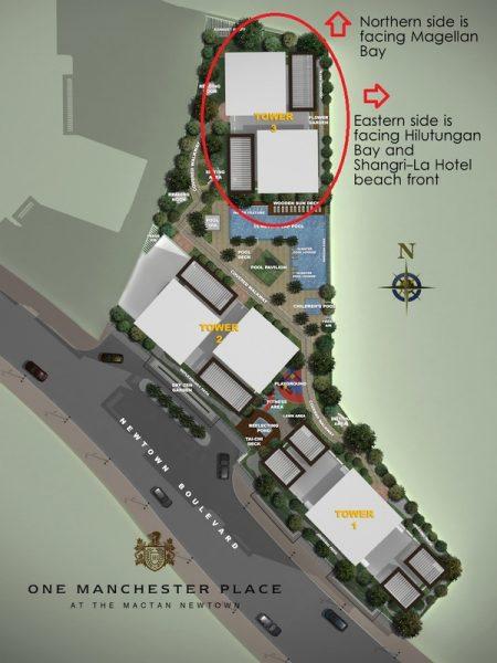 site development plan of one manchester place mactan newtown