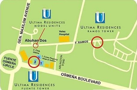 vicinity map of city suites ramos