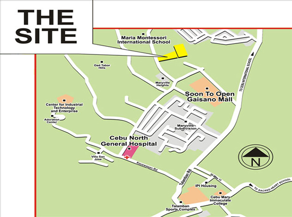vicinity map of north belleza talamban